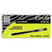 Zebra 42530 Z-Grip Gel Stick Pen Red Ink Medium Dozen