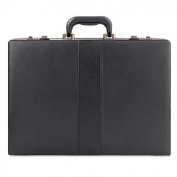 Classic Expandable Attaché, Vinyl, 17 1/2 x 4 x 12 1/2, Black