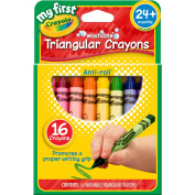 My First Washable Triangular Crayons, Wax,16/Set