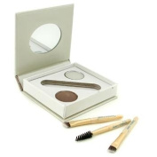 Bitty Brow Kit - Brunette ( 1x Brow Powder,1x Brow Wax, 3x Applicator ), 2.4g/0.085oz