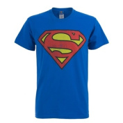 Superman Men's Distressed Logo T-Shirt