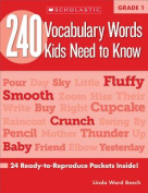 240 Vocabulary Words Kids Need to Know, Grade 1
