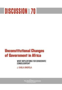 Unconstitutional Changes of Government in Africa
