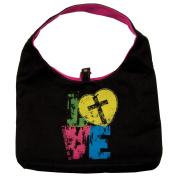 Purse Love Black/Pink Canvas Tote Bag