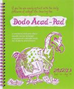 Dodo Acad-Pad Desk Diary 2012/13 - Academic Mid Year Diary