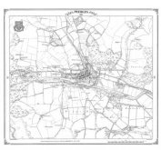 Peebles 1856 Heritage Cartography Victorian Town Map