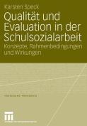Qualit T Und Evaluation in Der Schulsozialarbeit
