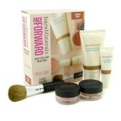 BareMinerals Face Forward Fresh Start - Medium Dark (Moisturizer + Eye Cream + Foundaion + Mineral Veil + Brush), 5pcs