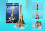 Eiffel Tower, 37 Piece 3D Jigsaw Puzzle Made by 3D-Puzzle