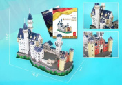 Neuschwanstein Castle 3D Puzzle with Book