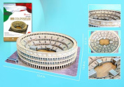 3D Puzzles CFMC055H Roman Colosseum 3D Puzzle with Book - 84 Pieces