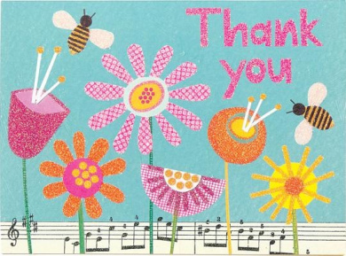 Download Bumblebee Garden Thank You Cards PDF Free
