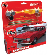 Ford Escort Starter Set (A50091) Model Kit and Accessories by Airfix