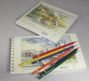 Carnet Watercolour Twin pad promotion with FREE pack of watercolour pencils