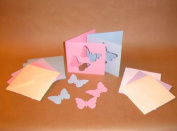 Square (Butterfly) Pastel Cards and Patel Envelopes PijPoj