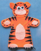 Tiger Felt Hand Puppet from Kids Craft