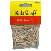 Mini Wooden Pegs from Kids Craft