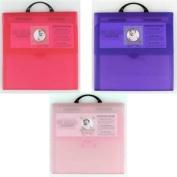 "Westfolio Memory Folio 12"" X 12 "" Carry case - Pink"