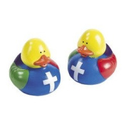 12 ct - Colours of Faith Rubber Duck Ducky Duckies