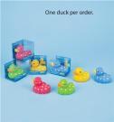 Polka Dot Rubber Duck - Green