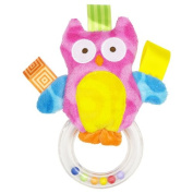 Taggies Colours Owl Ring Rattle - You Will Receive One Rattle - Colours will vary