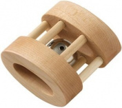 Maple Landmark 72153 SCHOOLHOUSE NATURALS- RATTLES- NATURAL OVAL BELL - Unfinished