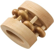 Maple Landmark 72151 SCHOOLHOUSE NATURALS- RATTLES- NATURAL OVAL BEAD - Unfinished
