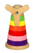 Discoveroo Wooden Windmill Stackeroo Stacking Toy