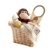 """Baby Aspen """"Five Little Monkeys"""" Five-Piece Gift Set in Keepsake Basket"""