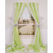 Curtain Critters Plush Peaceful Barnyard Lamb Curtain Tieback, Car Seat, Stroller, Crib Toys Set