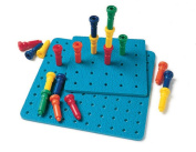 Lauri Toys Deluxe Tall-Stacker Pegs and Pegboard Set