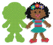 Girl Pegboard for Perler Fuse Beads Large Style