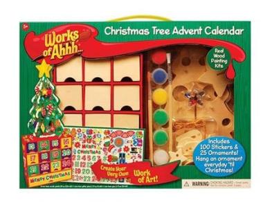 Christmas Tree Ornament Advent Calendar Wood Painting Kits