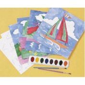 Watercolour Paint-by-Numbers Craft Kit