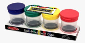 Spill Proof Paint Cups - Set of 4