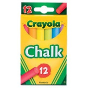 Colored Drawing Chalk Assorted Colors 12 Sticks/Set