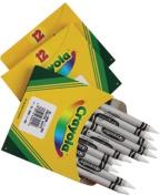 12/Pkg. Regular Size Bulk White Crayons BULKWHTE