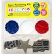 Snazaroo 4th of July Stamp Face Painting Kit Star, Flag, USA