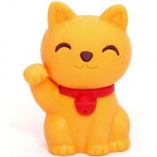 orange Lucky Cat eraser Maneki Neko from Japan