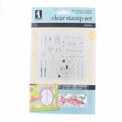 Inkadinkado Clear Peg Stamp Set-Fashion, With Embellishments
