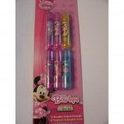 Disney Minnie Mouse Bow-tique 6 Double-Sided Stamps ~ Bows, Hearts, Flowers, Hearts