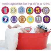 Sticky Bellies Baby Onesie Monthly Milestone Stickers