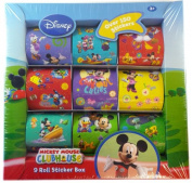 Mickey Mouse Clubhouse 9 Roll Sticker Box - Disney Sticker Kit
