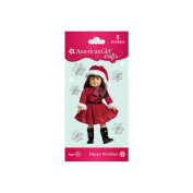 Red Dress Doll Bubble Stickers
