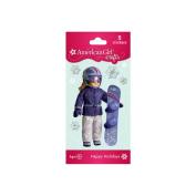 Snowboard Doll Bubble Stickers