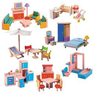 Wooden Doll House Furniture Group By Plan Toys Shop Online For Toys In Nz
