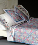 1:12 Miniature Blue Pink Quilt Kit by Lindee's Little Linens