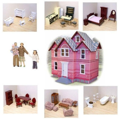 Melissa Amp Doug Victorian Doll House And Furniture Sets