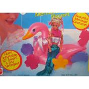 Bathtime Fun BARBIE Mermaid & Swan Playset w Mermaid Costume