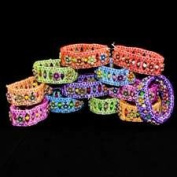 Stretch Flower Bracelets - 12 per unit